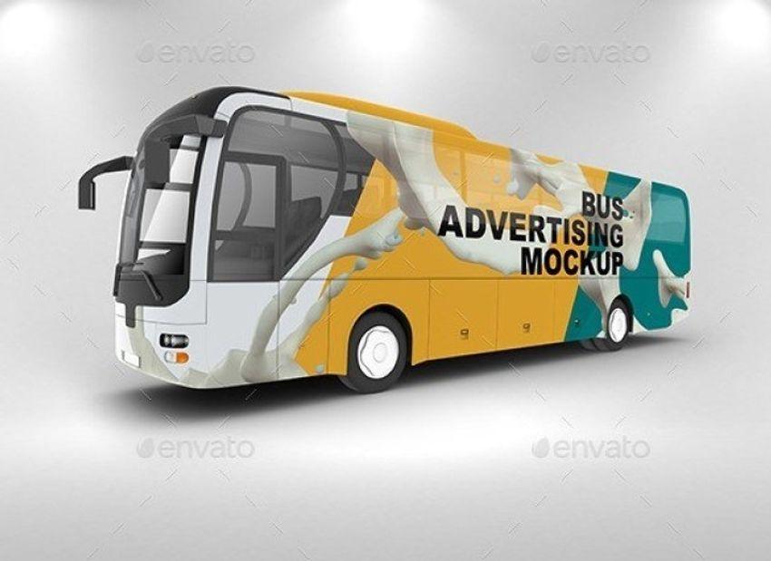 25 Impressive Bus Advertising Psd Mockup Templates Decolore Net