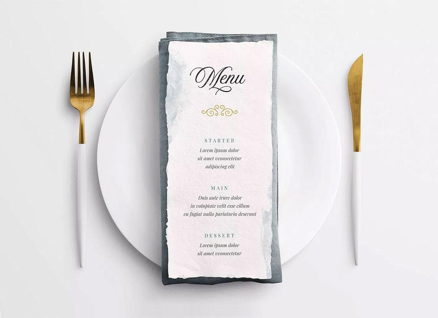 40 Elegant Restaurant Menu Psd Mockup Templates Decolore Net