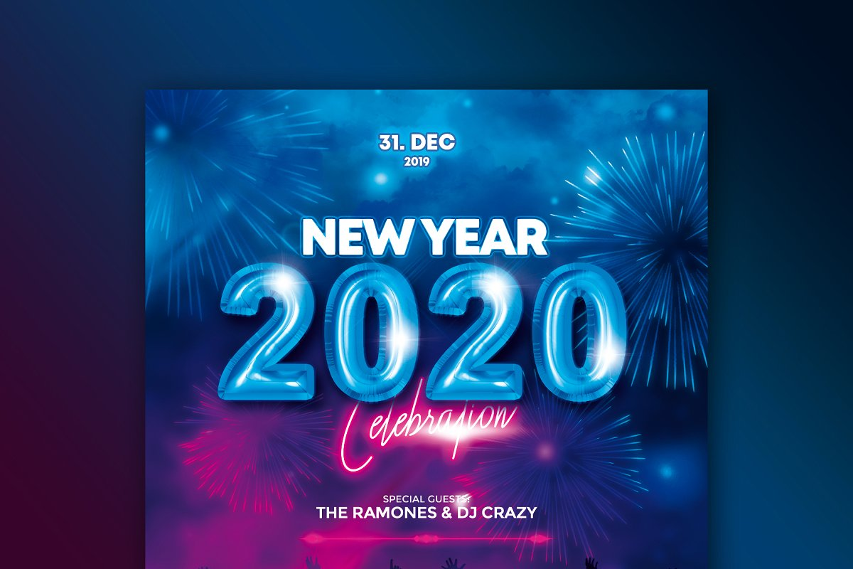 30+ Incredible New Year Flyer Templates for 2020 | Decolore.Net