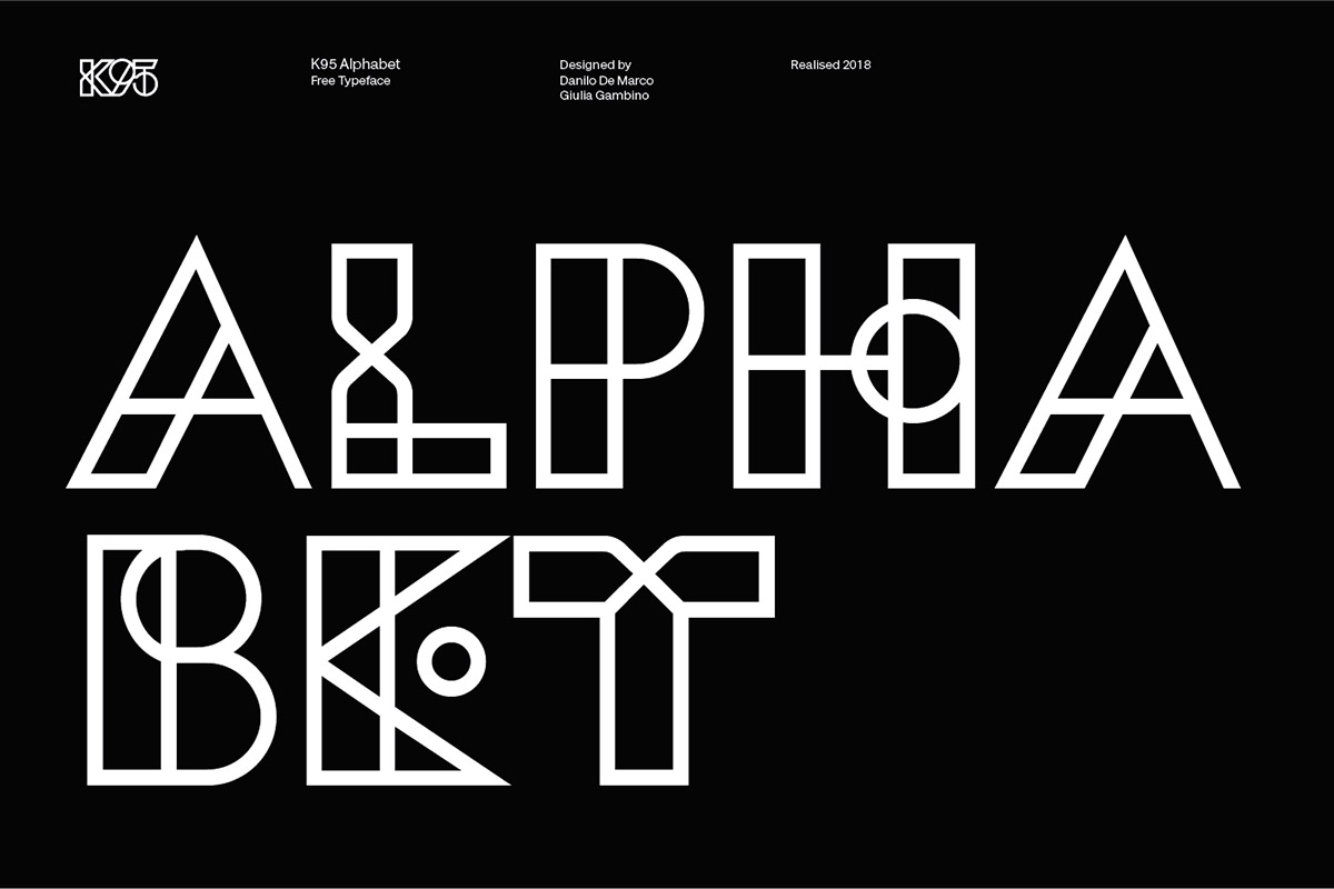 40 Spectacular Geometric Fonts For Great Typography Design Decolore Net