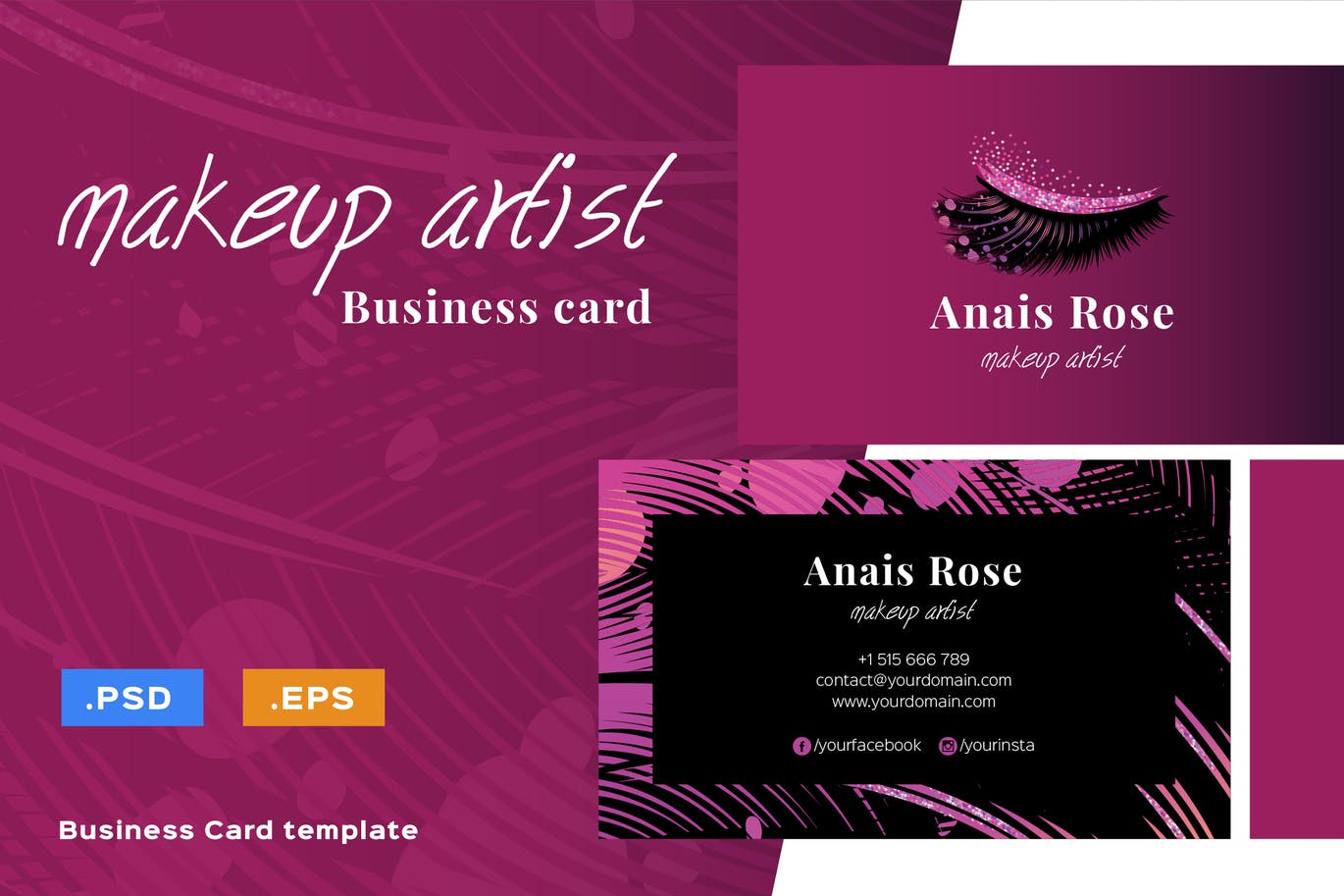 Beautiful Makeup Artist Business Card