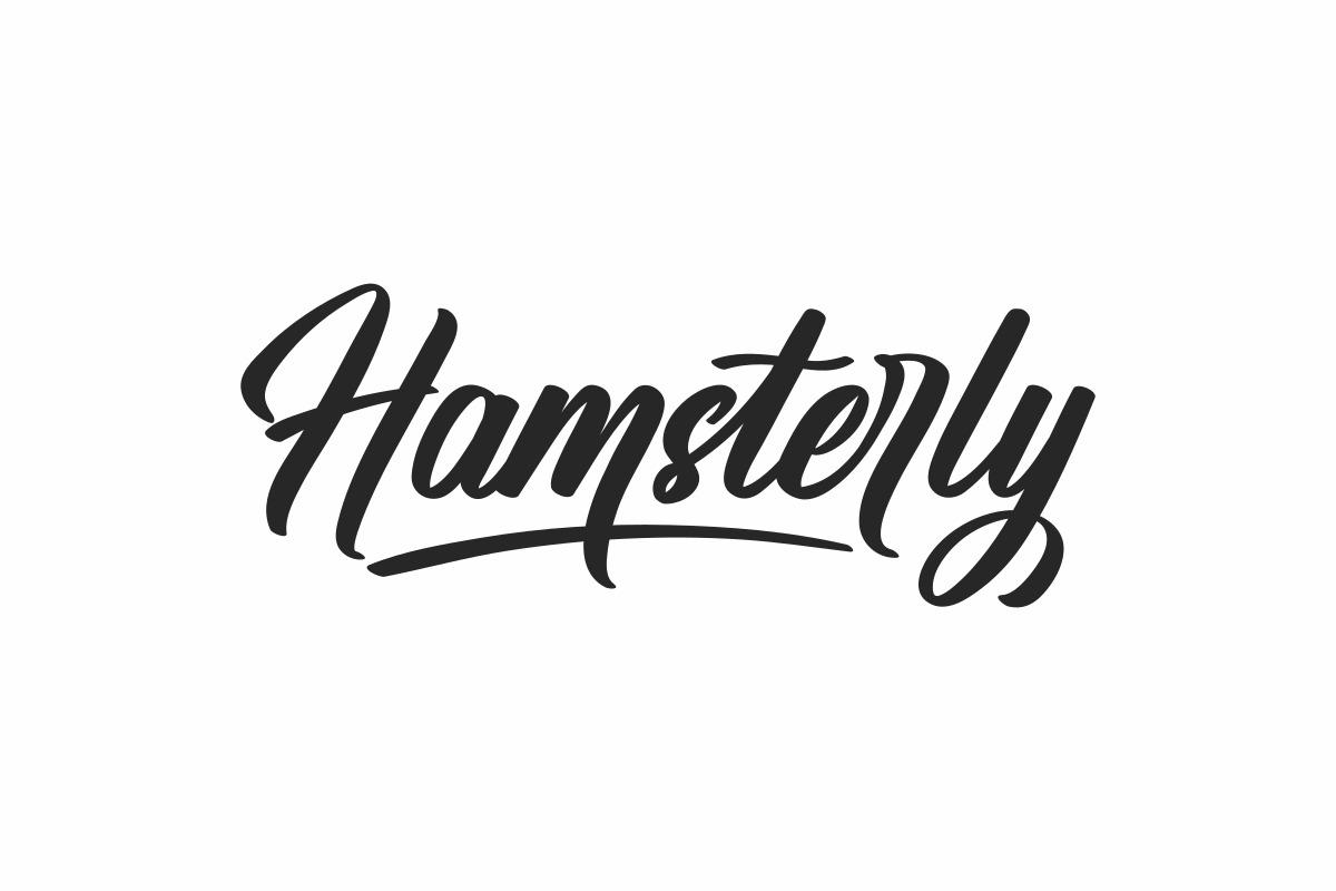 hamsterly-brush-font