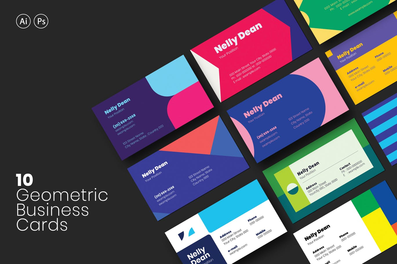 10-geometric-business-cards-bundle