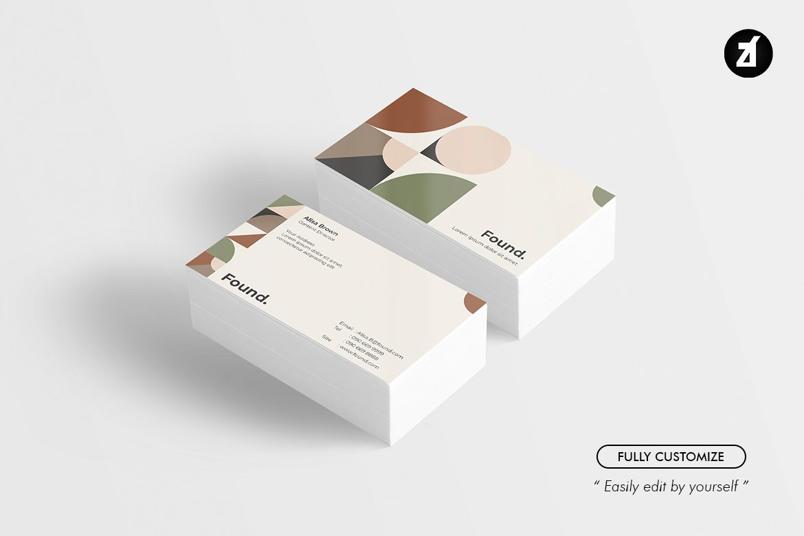 Found-Business-card-template