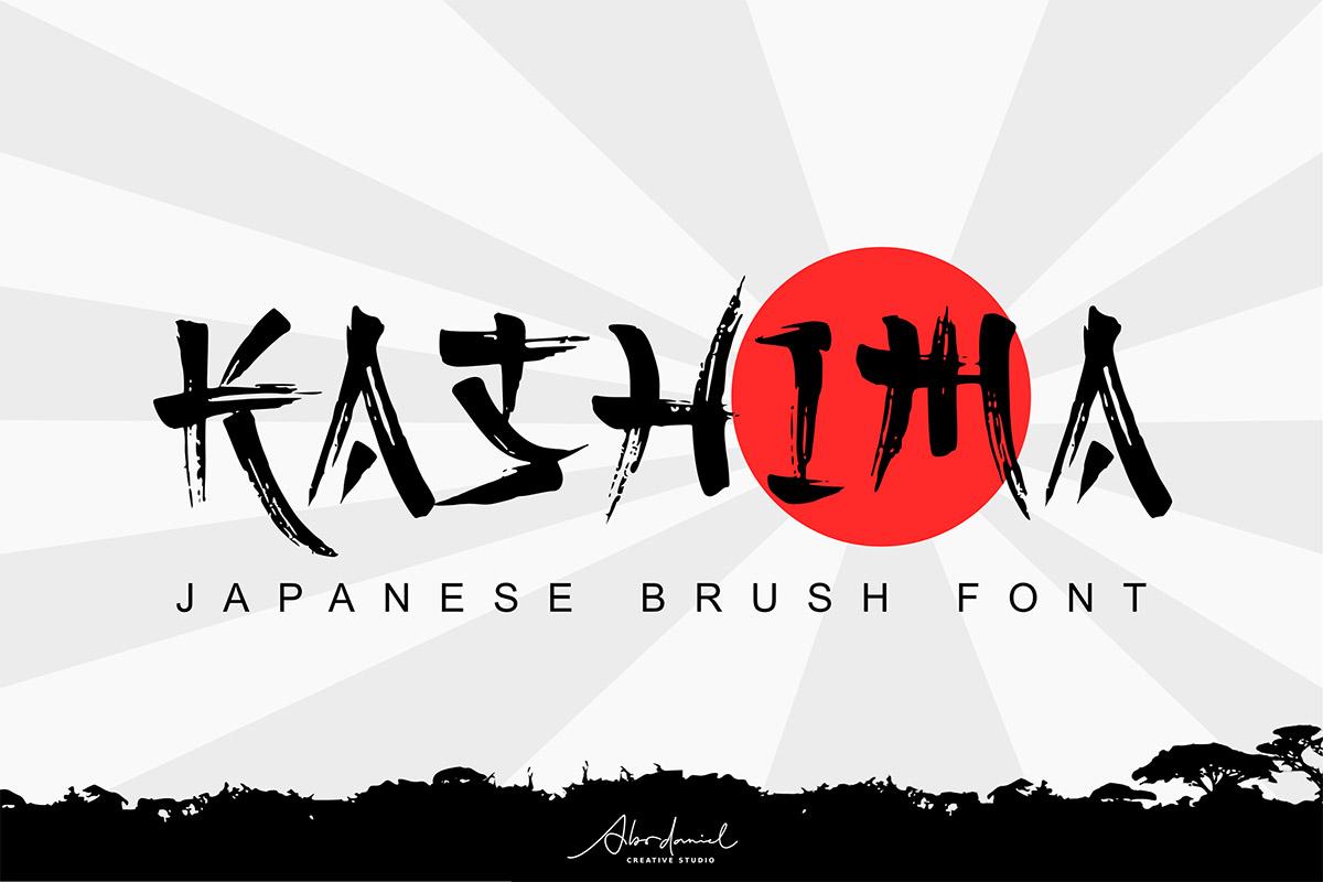 Free-Kashima-Japanese-Brush-Font