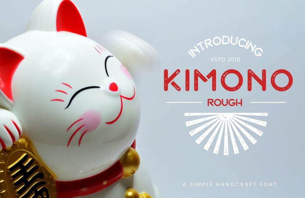 kimono-japanese-display-typeface