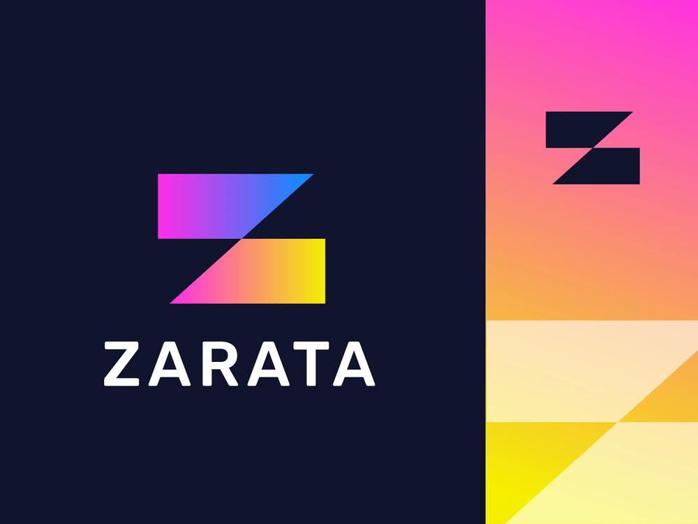z letter logodesing - thiết kế logo grandient