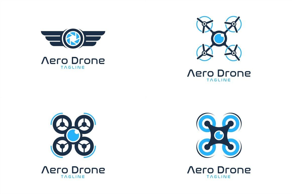 10-Drone-Logo-Bundle