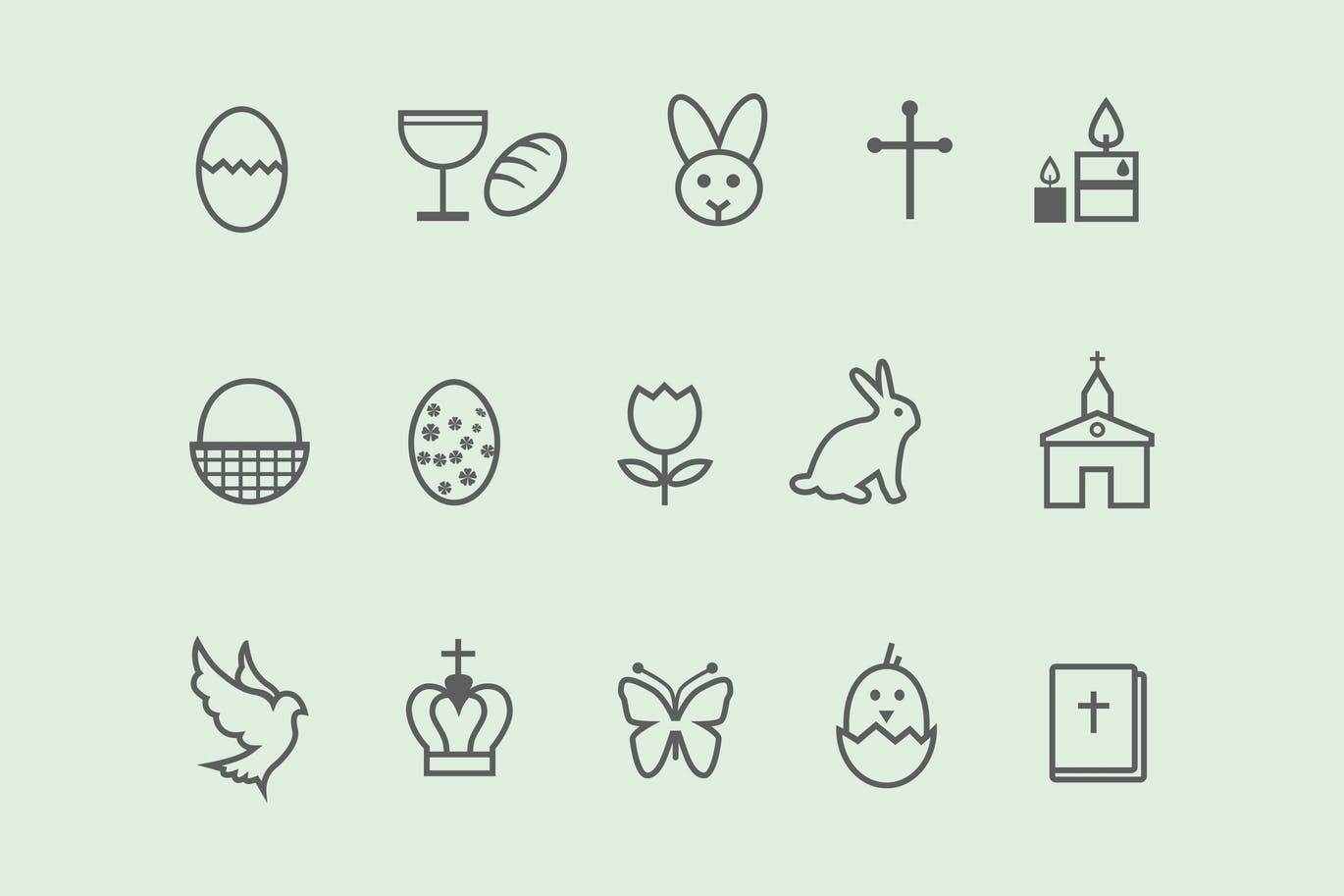 12-easter-icons