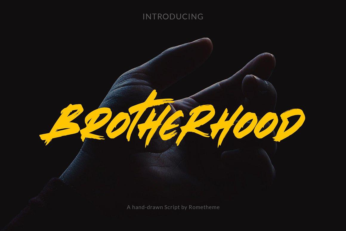 Brotherhood-Brush-Script-Font