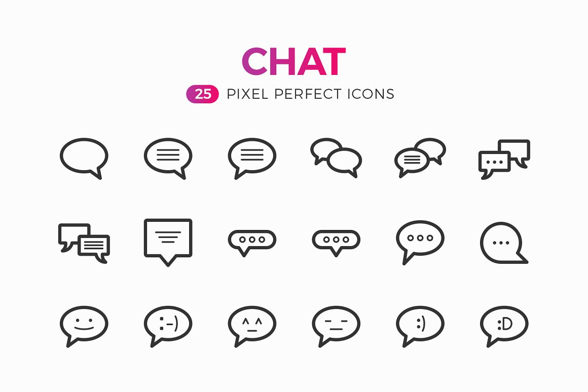Chat-Line-Icons-Pack