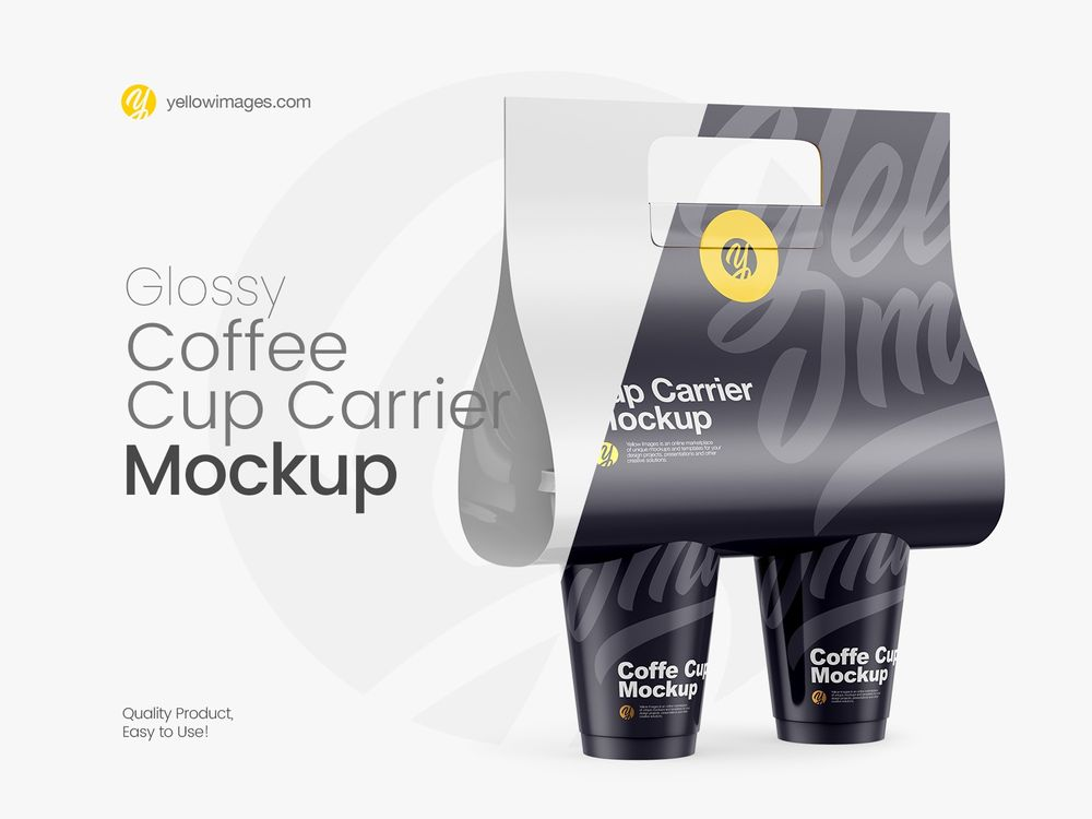 Glossy-Coffee-Cup-Carrier-Mockup-Halfside-View