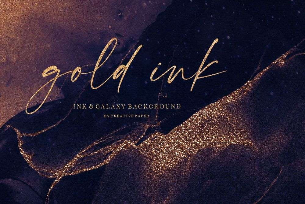 Gold-Ink-Galaxy-Backgrounds