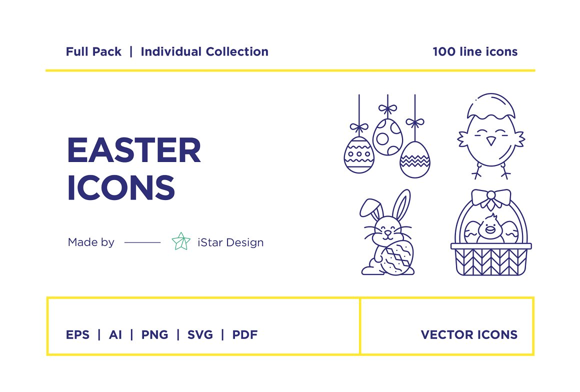 Happy-Easter-Icons-Set