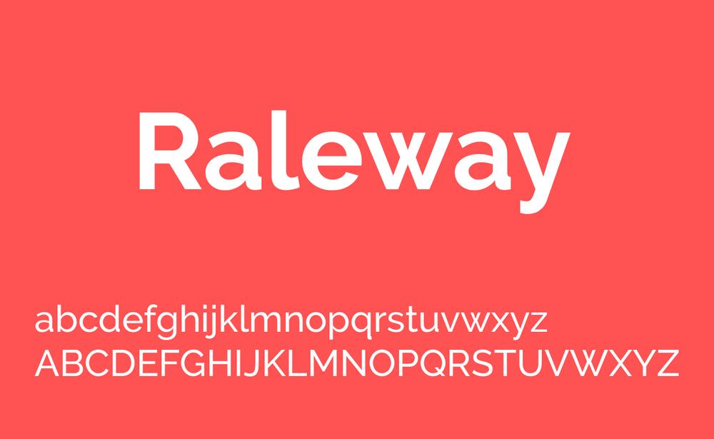 Raleway-font