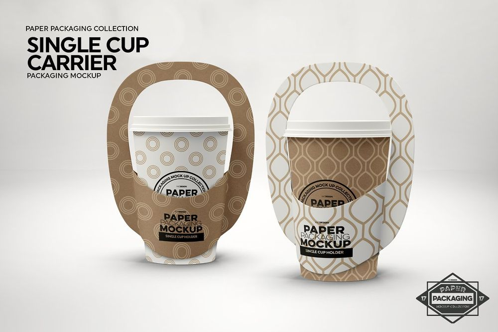 Single-Cup-Paper-Carrier-Mockup