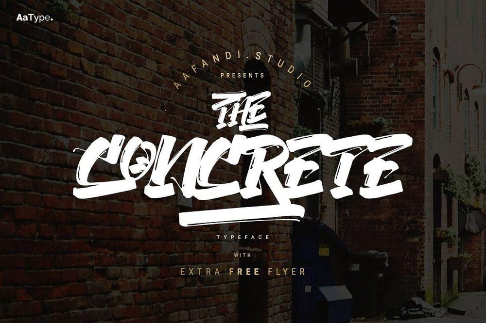 The-Concrete-Graffiti-Font