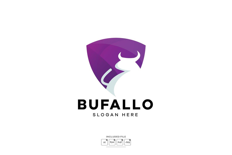 buffalo-gradient-colorful-logo-template