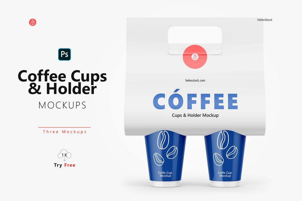 coffee-cups-and-holder-mockups-front-view