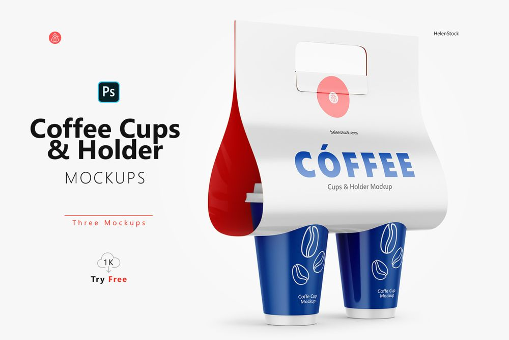 coffee-cups-and-holder-mockups-halfside-view