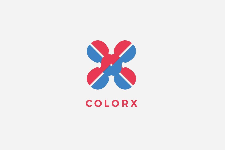color-x-logo-templat