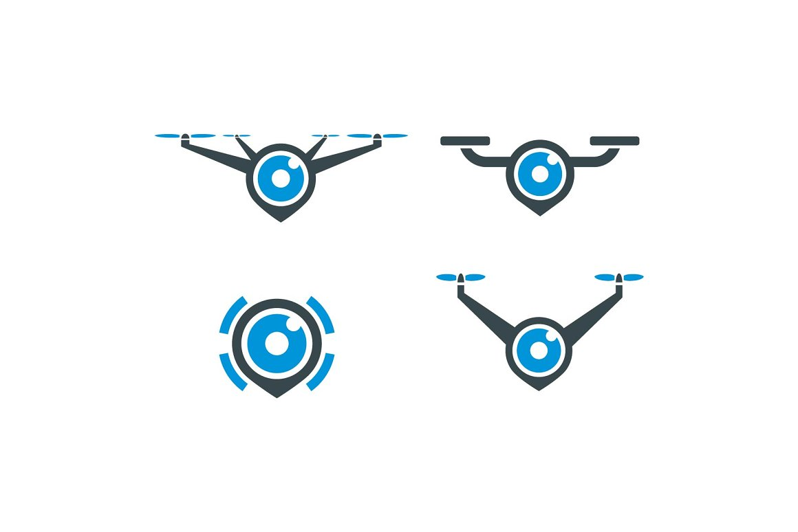 drone-camera-logo-pack
