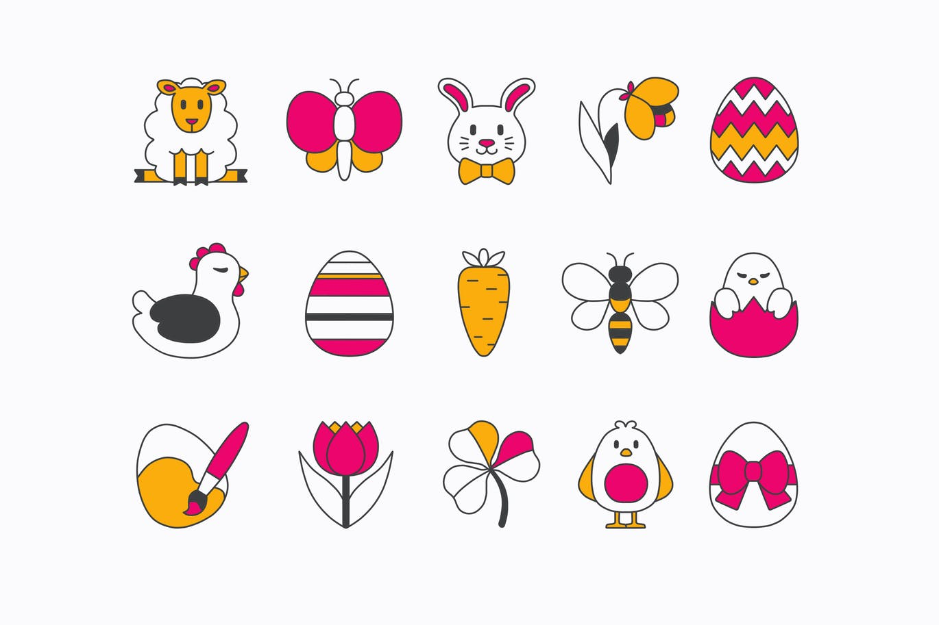easter-lines-icons