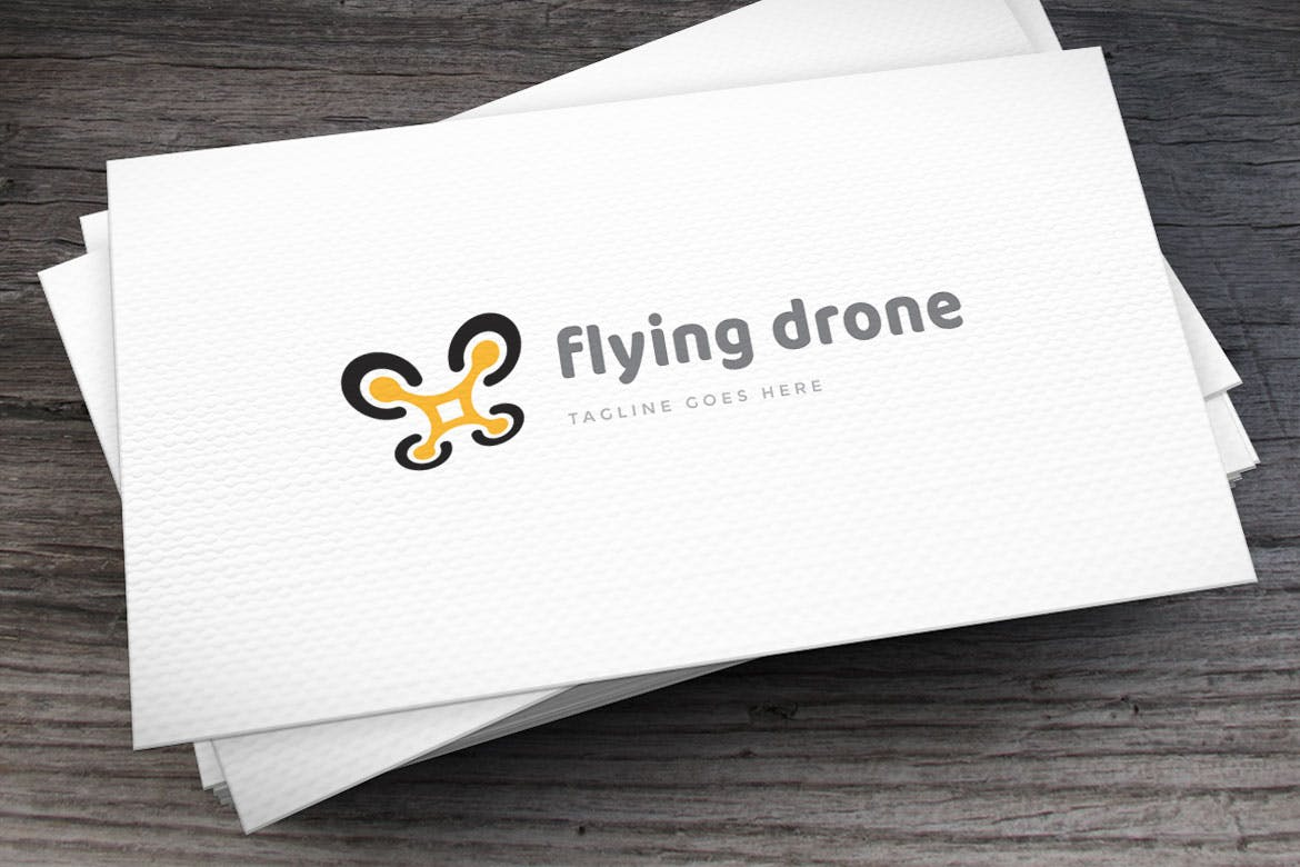 flying-drone-logo-template