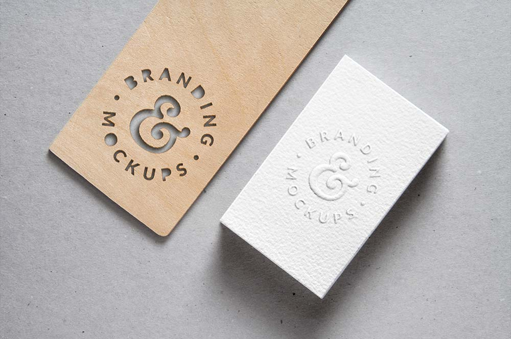 free-Cutout-Wood-Embossed-Business-Card-MockUp