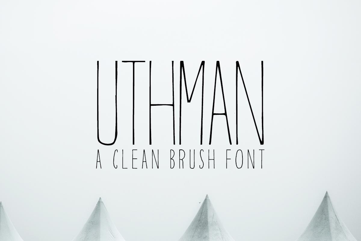 free-uthman-brush-thin-font