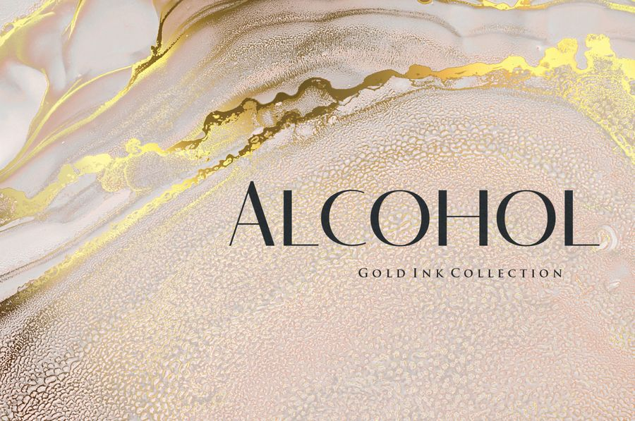 gold-alcohol-ink-background