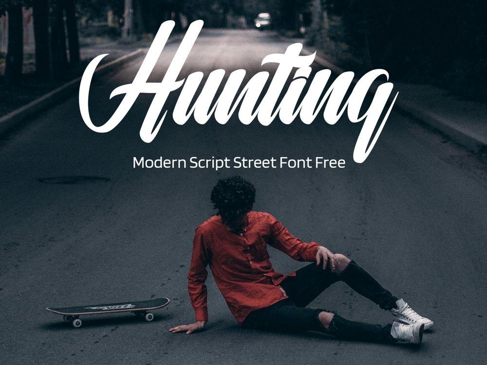 hunting-modern-script-dtreet-font-free