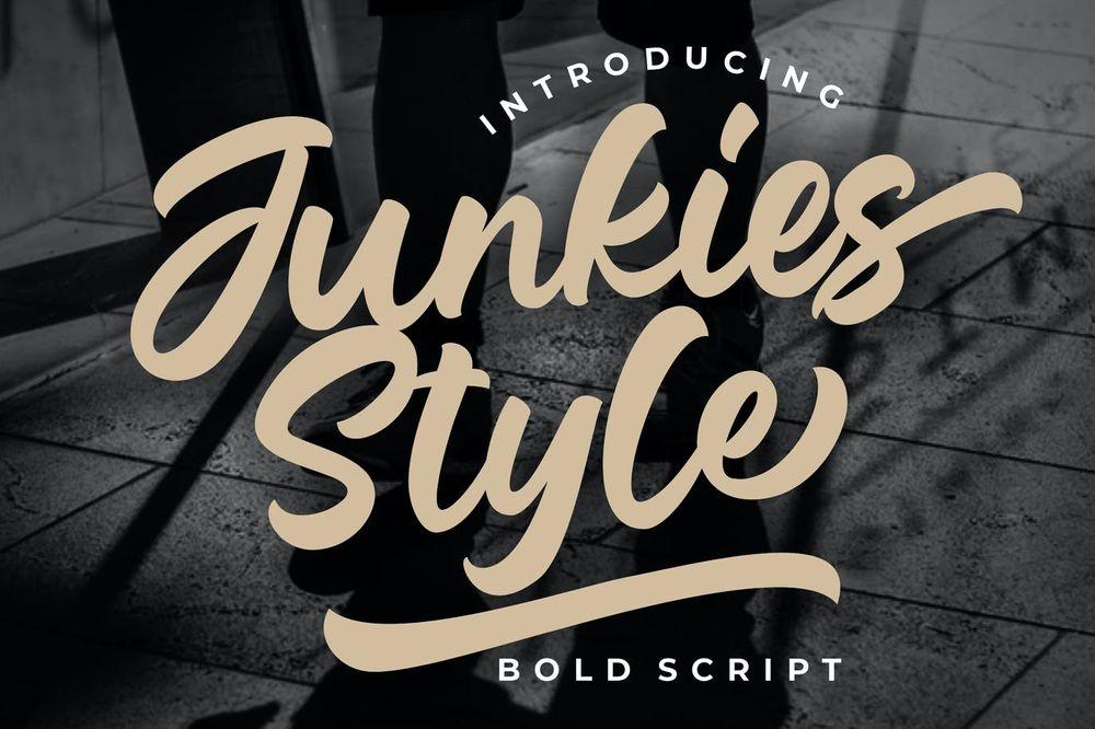 junkies-style-bold-script