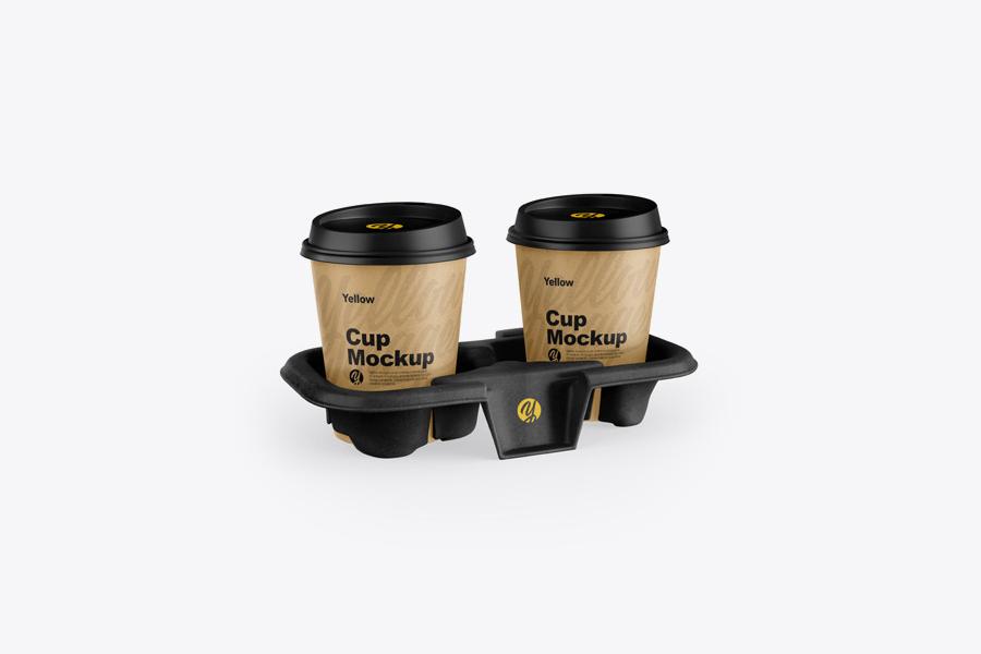 kraft-holder-with-coffee-cups-mockup