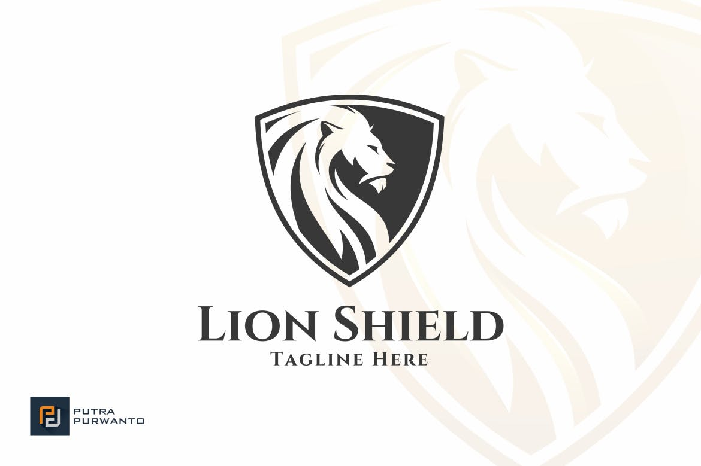 lion-shield-logo-template