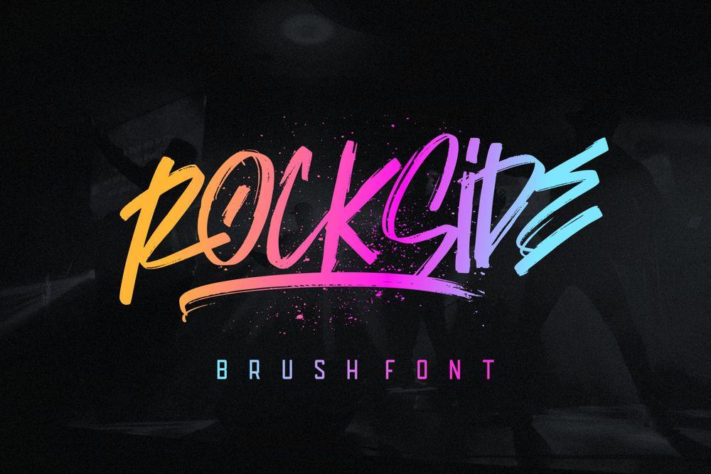 rockside-brush-font