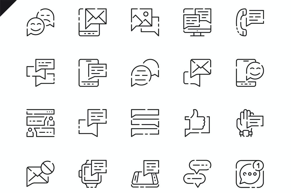 simple-set-message-line-icons