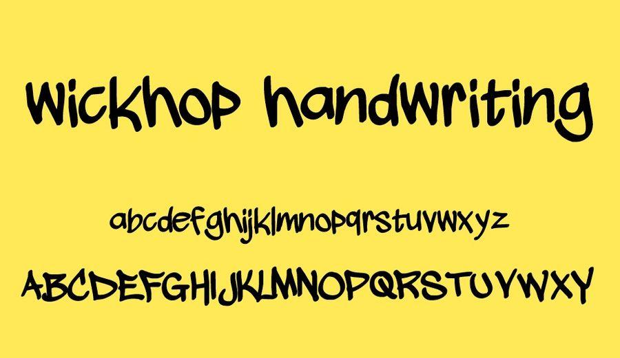 wickhop-handwriting-free-font