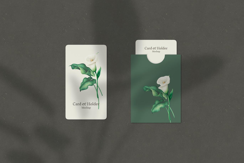 card-and-holder-mockup