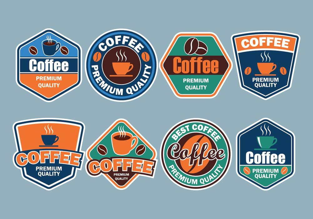 coffee-badges-collection-vector