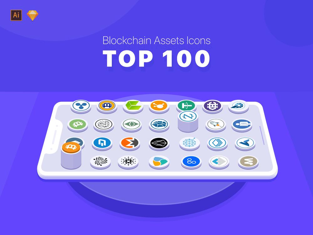 100-Blockchain-Cryptocurrency-Icons