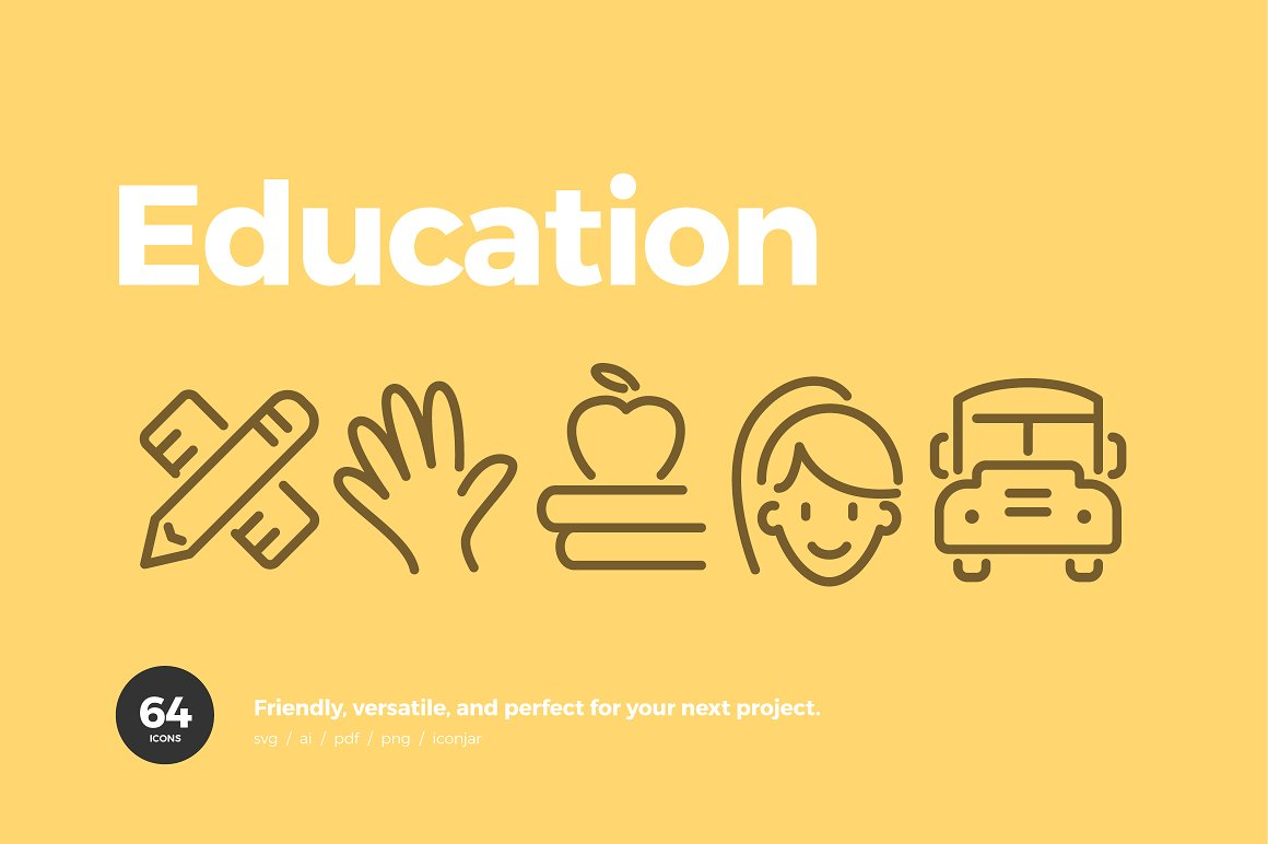Education-Line-Icons