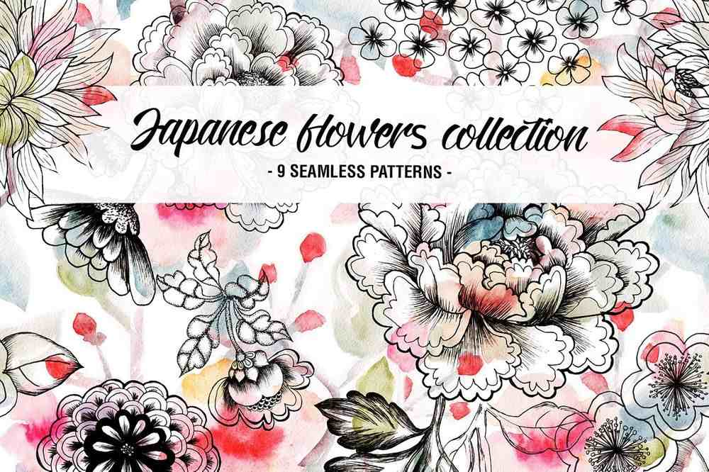 Japanese-flowers-patterns