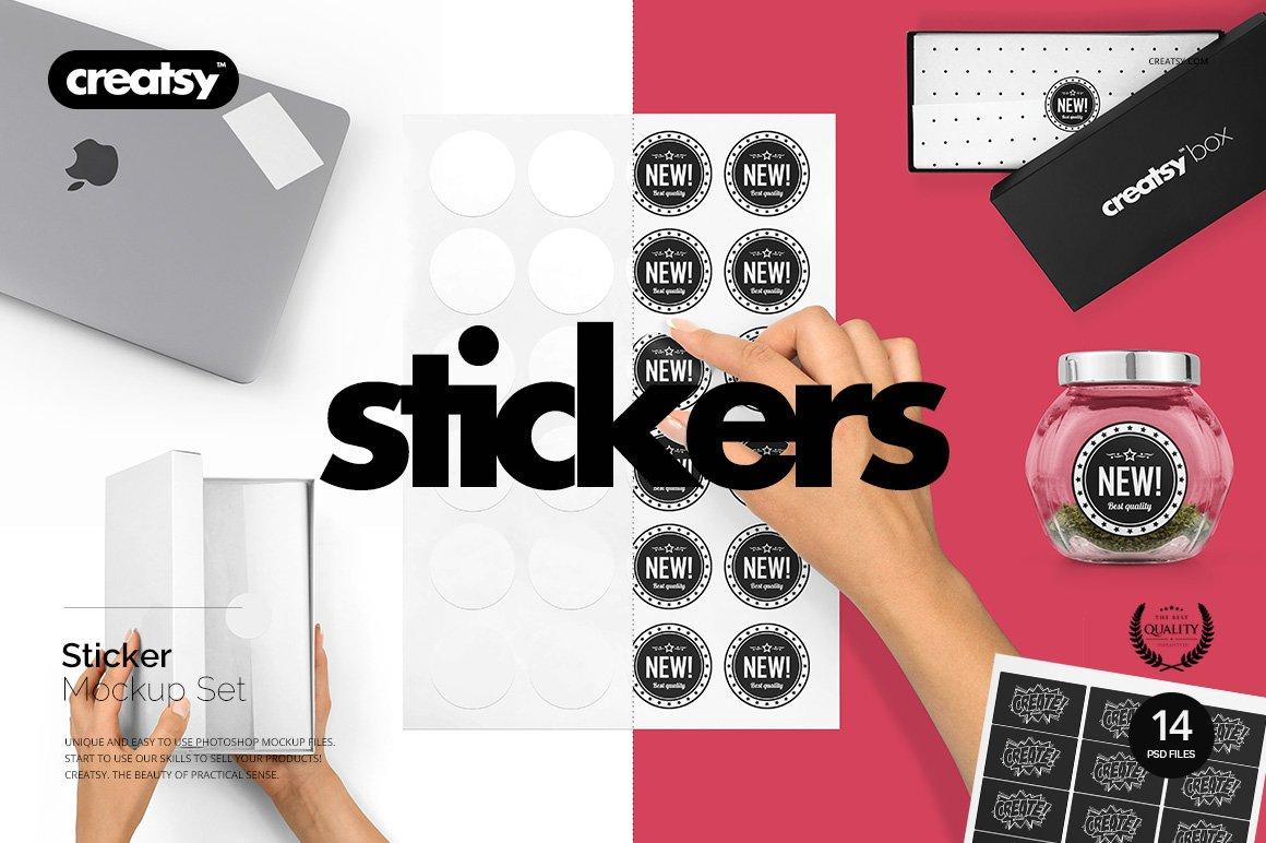 Stickers-Mockup-Set