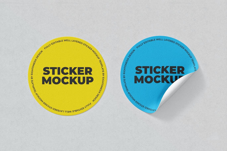 circle-sticker-mockup-template
