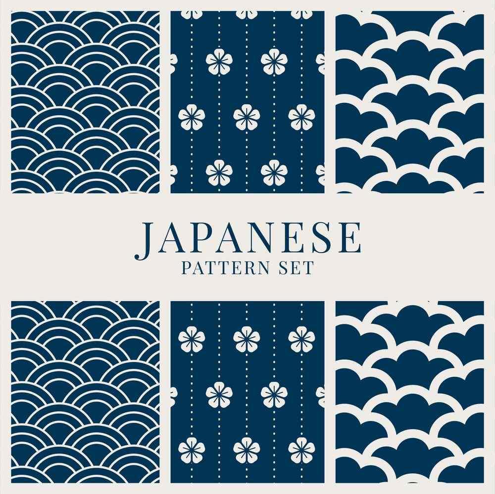 free-japanese-pattern-set