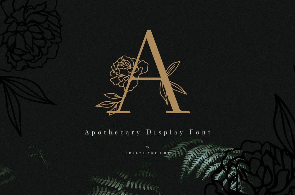Apothecary-Display-Font