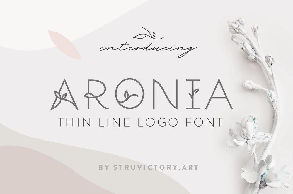 Aronia-Thin-Line-Logo-Font