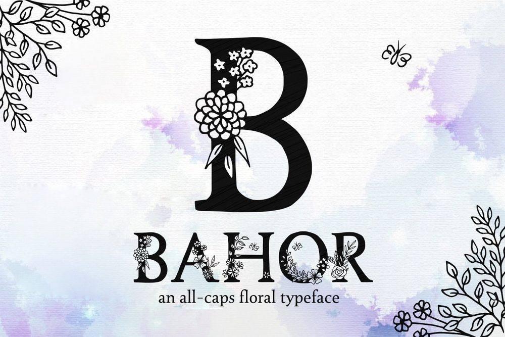 Bahor-Floral-Spring-Typeface