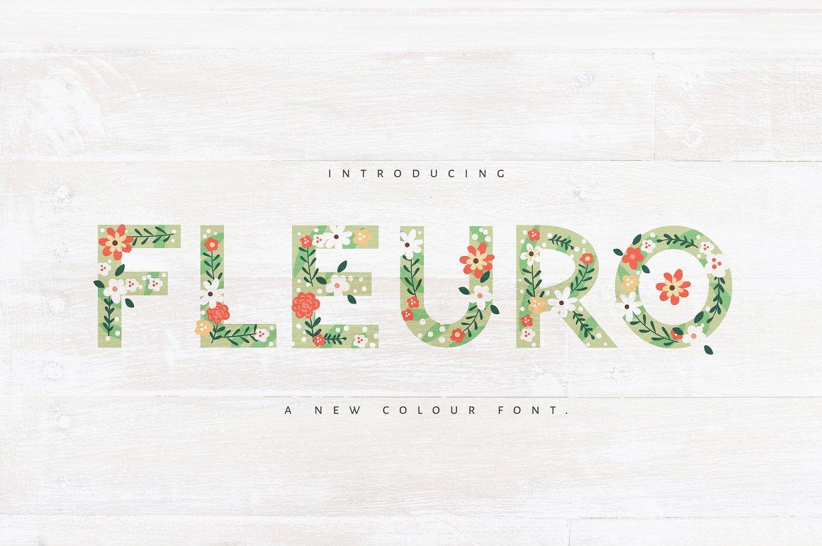 FLEURO-Colour-Font